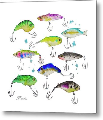 Fishing Is Fly No3 Metal Print by Roleen  Senic