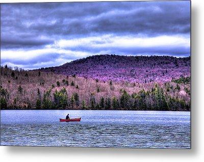 Fishing Limekiln Lake Metal Print by David Patterson