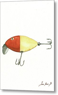 Fishing Lure  Metal Print by Juan Bosco