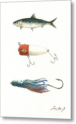 Fishing Lures Metal Print by Juan Bosco