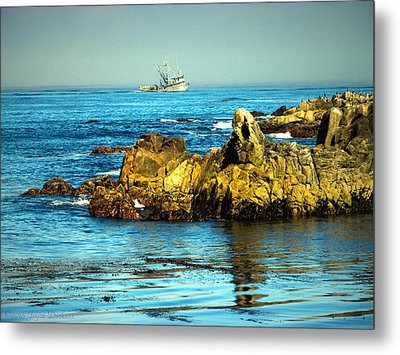 Fishing Monterey Bay Ca Metal Print