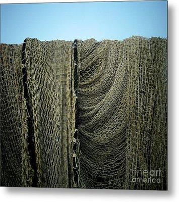 Fishing Net Metal Print by Bernard Jaubert
