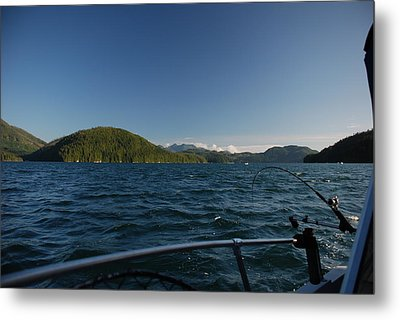 Fishing Off Hisnit Inlet Metal Print