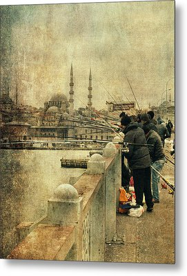 Fishing On The Bosphorus Metal Print