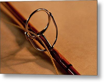 Fishing Pole Ring Metal Print by Wilma  Birdwell
