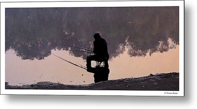 Metal Print featuring the photograph Fishing by R Thomas Berner