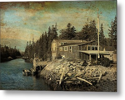 Fishing Shed Metal Print by Julius Reque