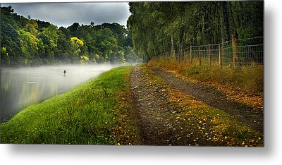 Fishing The River Beauly Metal Print