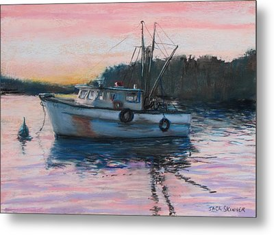 Fishing Trawler At Rest Metal Print by Jack Skinner