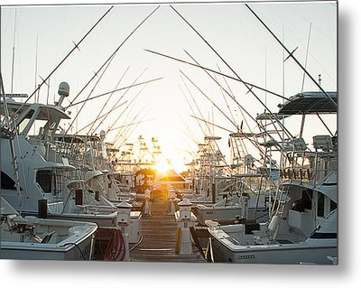 Fishing Yachts Metal Print