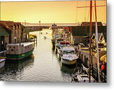 Metal Print featuring the photograph Fishtown by Alexey Stiop