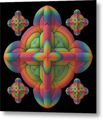 Metal Print featuring the digital art Fit To A Tee by Lyle Hatch