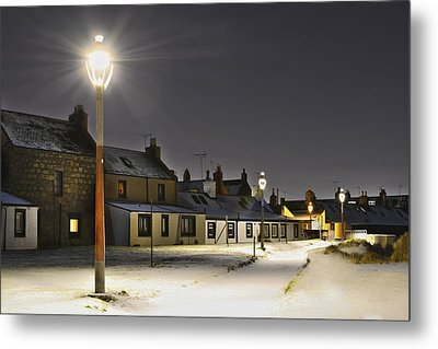Fittie In The Snow Metal Print
