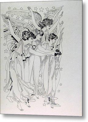 Five Angels Metal Print by Gabe Art Inc