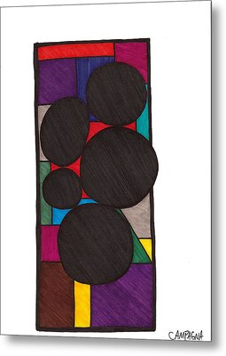 Five Dark Discs Metal Print by Teddy Campagna