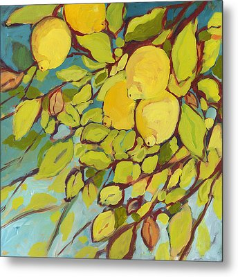 Five Lemons Metal Print by Jennifer Lommers