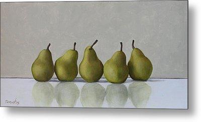 Five Pears Metal Print