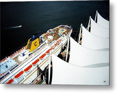 Five Sails And A Ship Metal Print by Will Borden