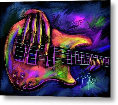 Five String Bass Metal Print