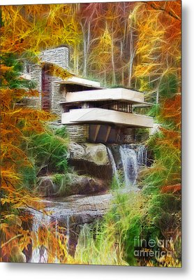 Fixer Upper - Frank Lloyd Wright's Fallingwater Metal Print