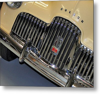 Fj Holden - Front End - Grill Metal Print by Kaye Menner