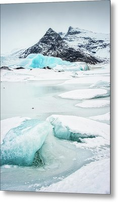 Metal Print featuring the photograph Fjallsarlon Glacier Lagoon Iceland In Winter by Matthias Hauser