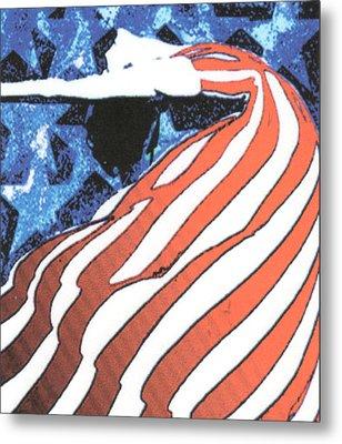 Flag Dancer Metal Print by Linda Crockett