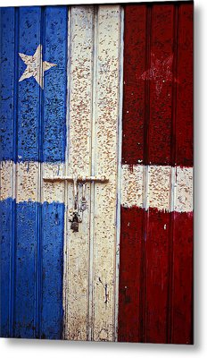 Flag Door Metal Print by Garry Gay