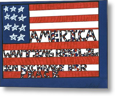 Flag Four Metal Print