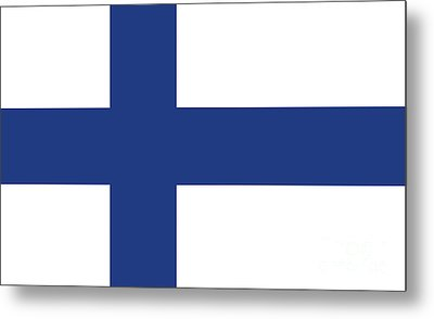 Metal Print featuring the digital art Flag Of Finland by Bruce Stanfield