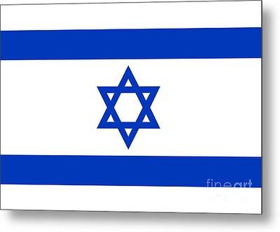 Flag Of Israel Authentic Version Metal Print