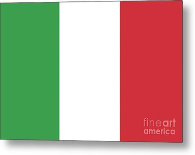 Metal Print featuring the digital art Flag Of Italy by Bruce Stanfield