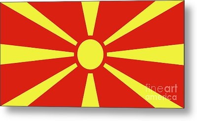 Metal Print featuring the digital art Flag Of Macedonia by Bruce Stanfield