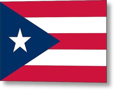 Flag Of Puerto Rico Metal Print
