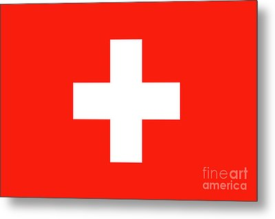 Metal Print featuring the digital art Flag Of Switzerland by Bruce Stanfield