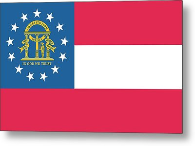 Flag Of The State Of Georgia Metal Print by American School