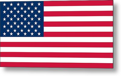 Flag Of The United States Of America Metal Print by American School