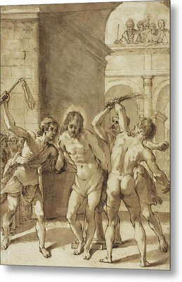 Flagellation Of Christ Metal Print by Guercino