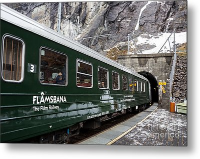 Flam Railway Metal Print