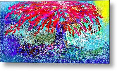 Metal Print featuring the painting Flamboyan by The Art of Alice Terrill