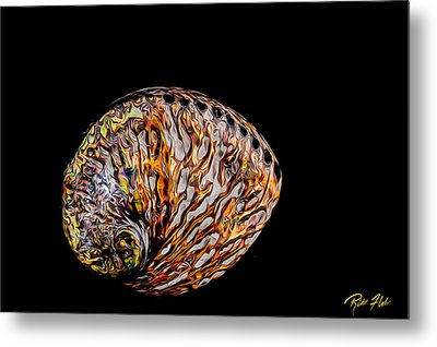 Metal Print featuring the photograph Flame Abalone by Rikk Flohr