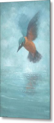 Flame In The Mist Metal Print by Steve Mitchell