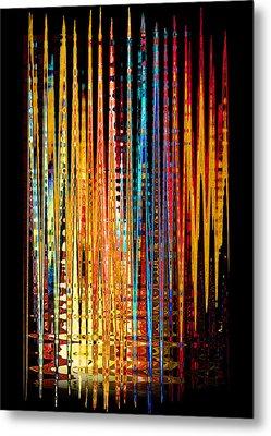 Flame Lines Metal Print by Francesa Miller