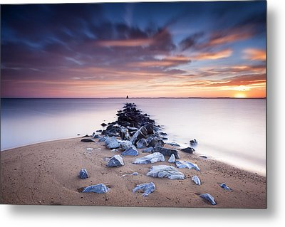 Metal Print featuring the photograph Flame On The Horizon by Edward Kreis