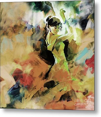 Metal Print featuring the painting Flamenco 56y3 by Gull G
