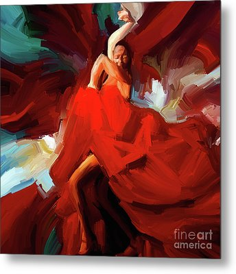 Flamenco Dance 7750 Metal Print by Gull G