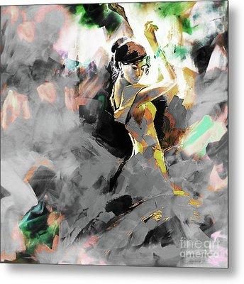 Metal Print featuring the painting Flamenco Dance Art 7u7 by Gull G