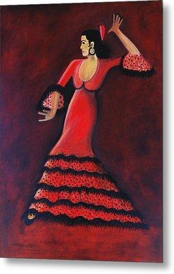 Flamenco Dancer Metal Print by Janine Antulov