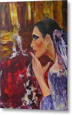 Flamenco Dancer  Mb Metal Print