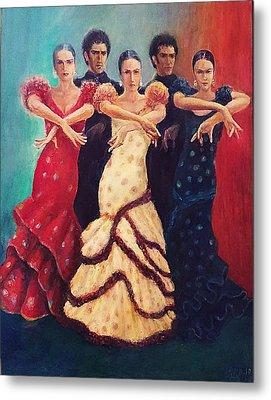 Flamenco Dancers 5 Metal Print